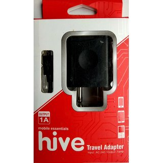 Hive Charger 1 amp With Data Cable-Black
