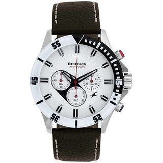 Fastrack Round Analog Watch For Men-3072sl01