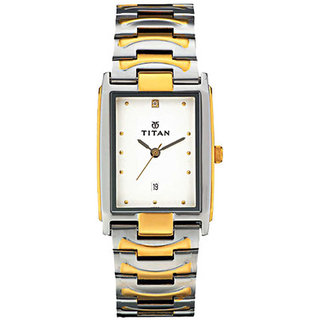 Titan Rectangle Analog Watch For Men-1318BM01