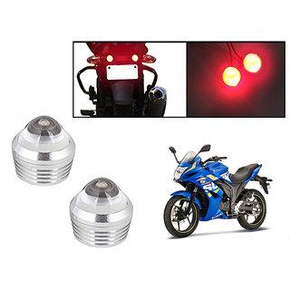 Autonity Bike Red LED Projector Strobe Brake Lights Set Of 2  For Suzuki Gixxer SF