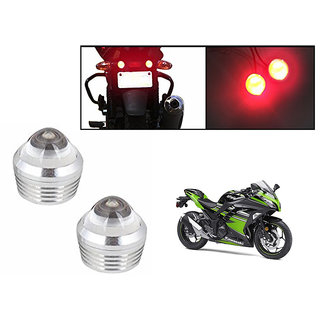 Autonity Bike Red LED Projector Strobe Brake Lights Set Of 2  For Kawasaki Ninja 300