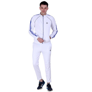 Abloom Mens White and Blue Tracksuit