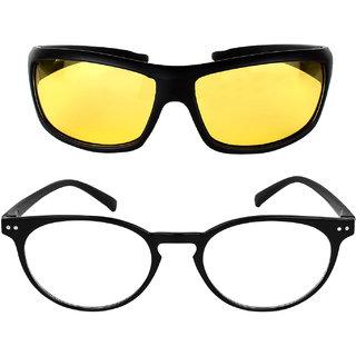 David Martin Combo of 2 Round Sunglasses