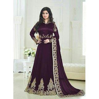 Ap Enterprise Women Georgette Anarkali Semi-Stitched Salwar Suit (Fashion AryanERTY10209VioletFree Size)