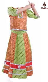 Rajasthani Girl Lehenga Fancy Dress Costume For Kids