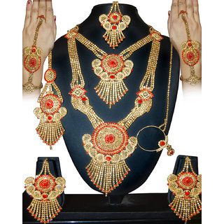 Sathiya wedding complete jewellery Dulhan set(with 8 items)