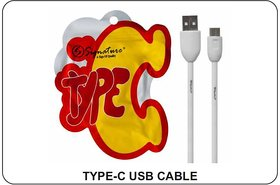 Signature Type C USB Fast Charging Data Cable (White)