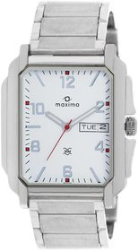 Maxima Quartz White Rectangle Men Watch 22040CMGI