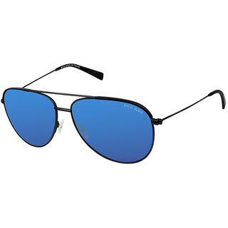 David Blake Blue Aviator Polarized & UV Protected Sunglass