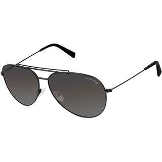 David Blake Grey Aviator Polarized & UV Protected Sunglass