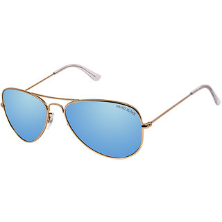 David Blake Blue Aviator Polarized & UV Protected Sunglass