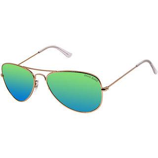 David Blake Green Aviator Polarized & UV Protected Sunglass