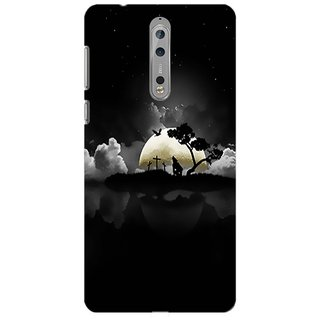Printgasm Nokia 8 printed back hard cover/case,  Matte finish, premium 3D printed, designer case