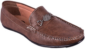 BB LAA 994 Brown Men's Slip-on Loafers Shoes