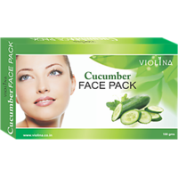 VIOLINACucumber Face Pack Natural Cleanser For Oily Skin - 100gms