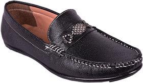 BB LAA Black Men's Slip-on Loafers Shoes