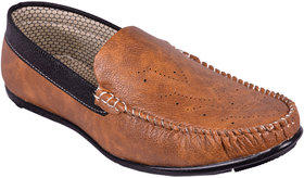 BB LAA 998-Tan Men's Slip-on Loafers Shoes
