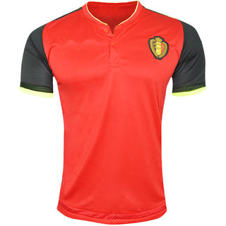 23342480e5bb Buy Belgium National Football Team Red Color Half Sleeve Dry Fit ...