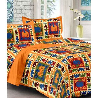 Dinesh EnterprisesPremium 300 TC Cotton Satin Bedsheet with 2 Pillow Covers - Solid, King Size,