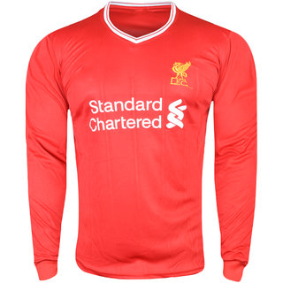 sports shoes ed1a7 76aac Liverpool FC Red Color Long Sleeve Dry Fit Jersey