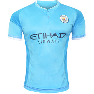 cheap for discount 0e2ae 0c385 Man City Sky Blue Color Half Sleeve Dry Fit Jersey
