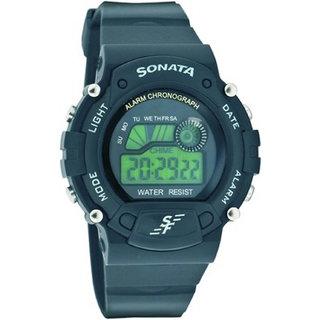 Sonata Round Analog Watch For Men-7982PP03