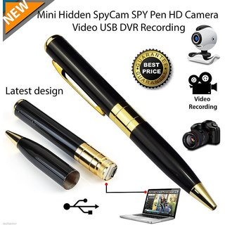 Hidden Camera Spy Pen Recorder DVR Silver REAL HD 720p Best Cam Kit, NO LIGHTS RECORDING, Up to 32GB TF Card (Not Includ