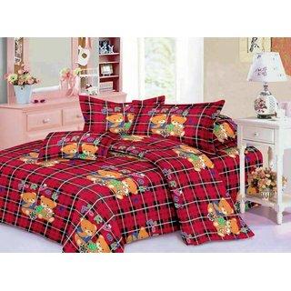 Teddy Bear Kids Favouraite Cartoon Design Double Bed Sheet Set