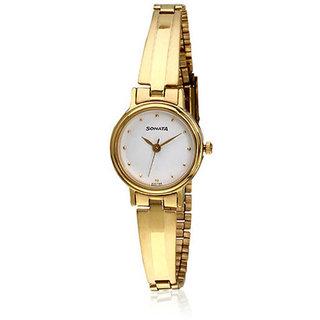 Sonata Analog Watch For Women-8096YM04