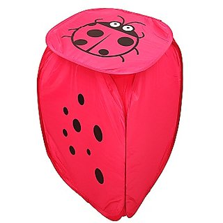 Winner Full Size pink Color Foldable Laundry Basket - Laundry Bag for Organizing Cloths Pack of 1 (45X45)