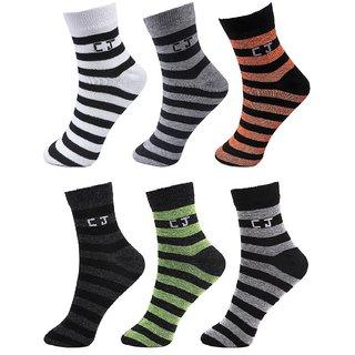 CalvinJones Unisex Ankle Socks - 6 Pair Pack