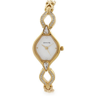 Sonata Analog Watch For Women-8063YM03