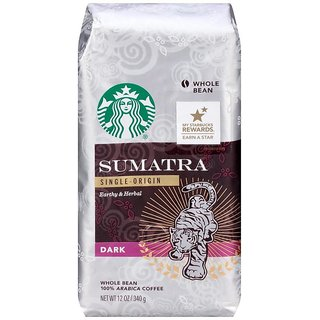 Starbucks Sumatra Single-Origin Dark Roast Whole Bean Coffee - 340g (12oz)