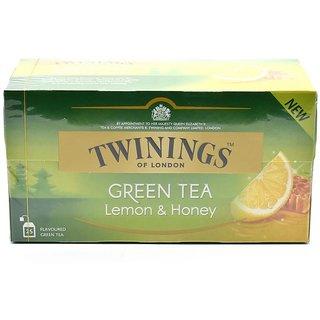 Twinings Green Tea & Lemon & Honey, 25 Tea Bags - 40g