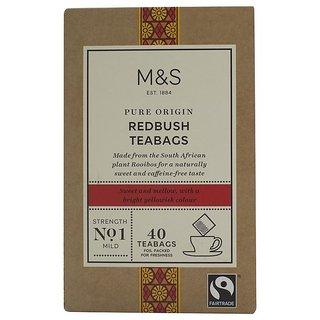 Marks & Spencer Pure Origin Redbush Teabags, Strength No.1, 40 Teabags - 100g
