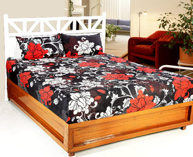 3D Printed 1 Double bedsheet with 2 Pillow Covers 3DDB-007