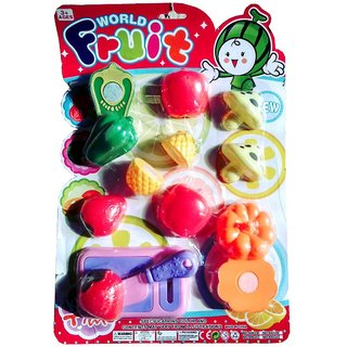 Kids Fruits and vegetables Cutting Play Toy Set  (Multicolor)