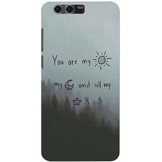 Printgasm Huawei Honor 9 printed back hard cover/case,  Matte finish, premium 3D printed, designer case