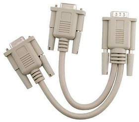 VGA SVGA Y Splitter Video 15pin Monitor 1 Male to Dual 2 Female PC Cable Adapter