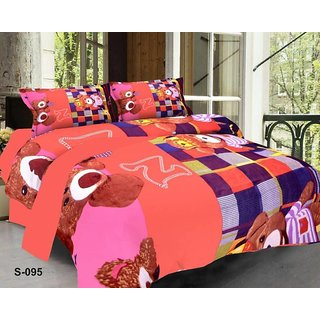 z decor polycotton double bedsheet with 2 pillow cover