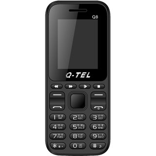 Q-Tel Q8 MOBILE PHONE 1.8 FEATURE PHONE FM RADIO 800mAh Dual Sim BIS Certified Made in India