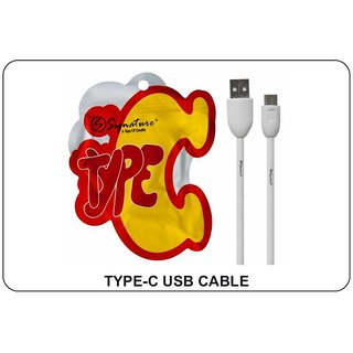 Signature Type C USB Fast Charging Data Cable