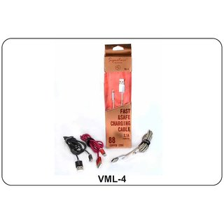 Signature VML 4 Fast Charging 21 Amp Data Cable For All Micro USB Smartphones