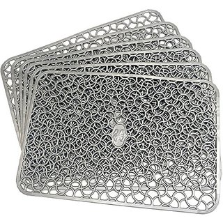 Khushi Creation PVC Fridge Multi Purpose Mats Set Of 6 Pcs (Grey)