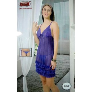 89d40b38cd1 Buy Short Nighty Blue Online   ₹349 from ShopClues