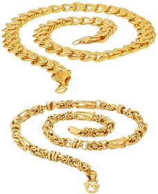 20' inch Gold Plated Brass Chain Combo by Sparkling Jewellery