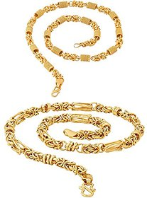 Sparkling Jewellery Gold Plated High Quality 20' inch Brass Chain Combo
