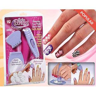 Buy AiroMart Salon Express Nail Art Stamping Kit Nails 100 gm Online ...