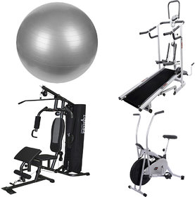 Lifeline Complete Health Combo Of Home Gym, Exercise Bi