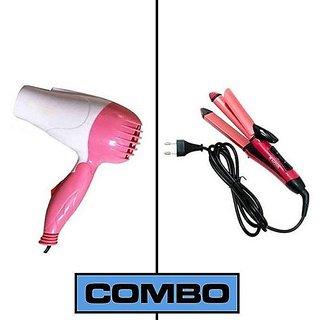 DAWN Combo Pack Of Hair Dryer,2in1 Hair Straightner Hair Dryer